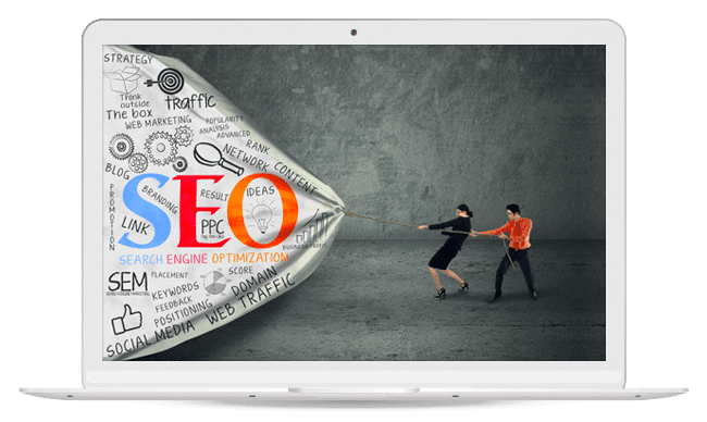 Business Strategy with SEO concept